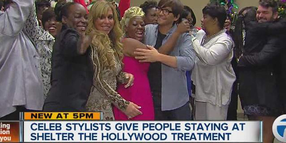 Hollywood stylists help change the lives of women at a Detroit shelter